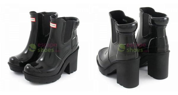 new styles 1cbe8 590ca Jael Correia's Hunter boots – In high heels in the rain!