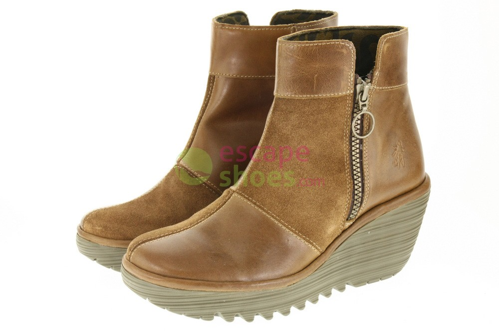 3782aa9e47224 Ankle Boots FLY LONDON Yellow Yime Camel P500427003. Footwear / Ankle Boots  · Fly London