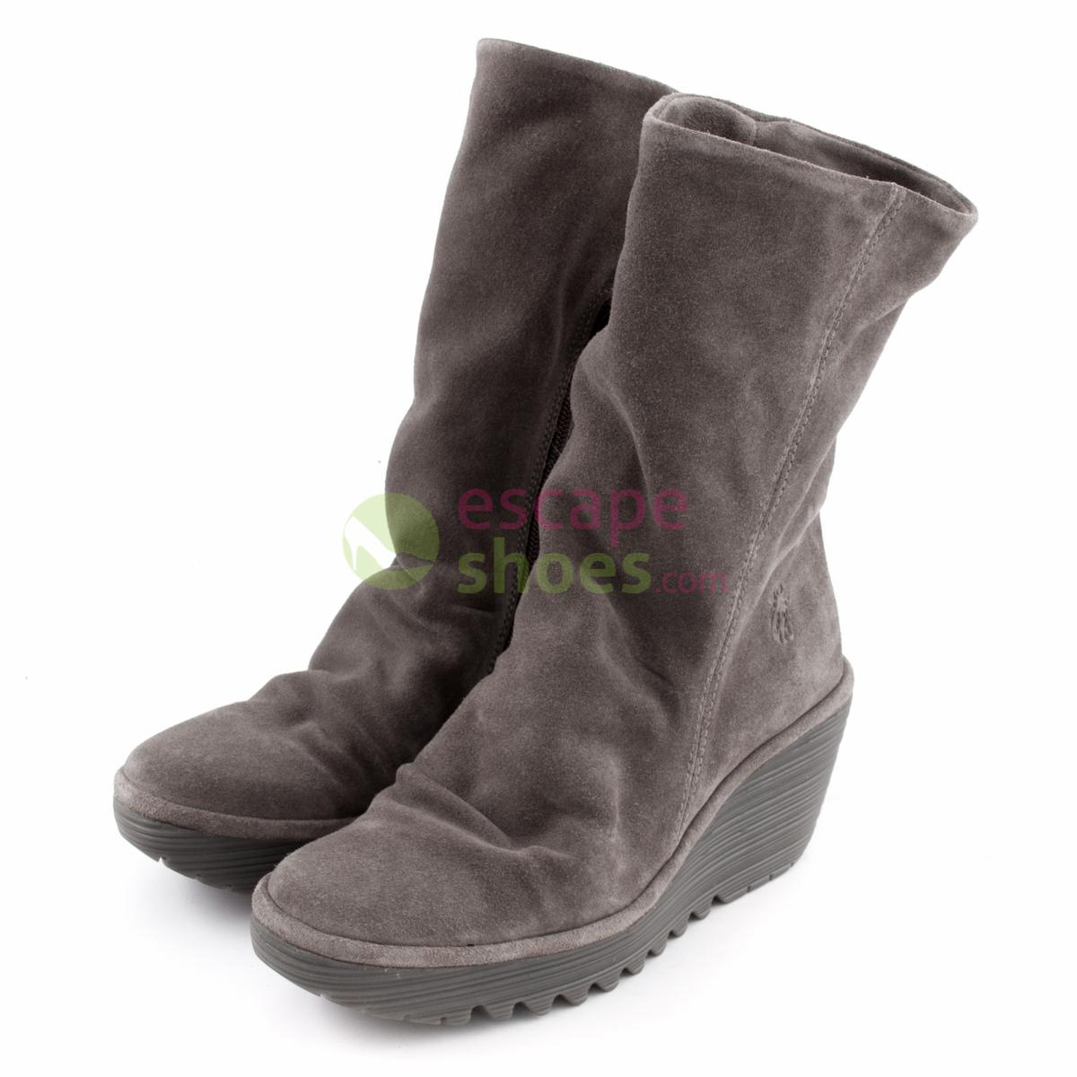 4ba89da739 Buy your Boots FLY LONDON Yellow Yara Suede Taupe P500504005 here ...