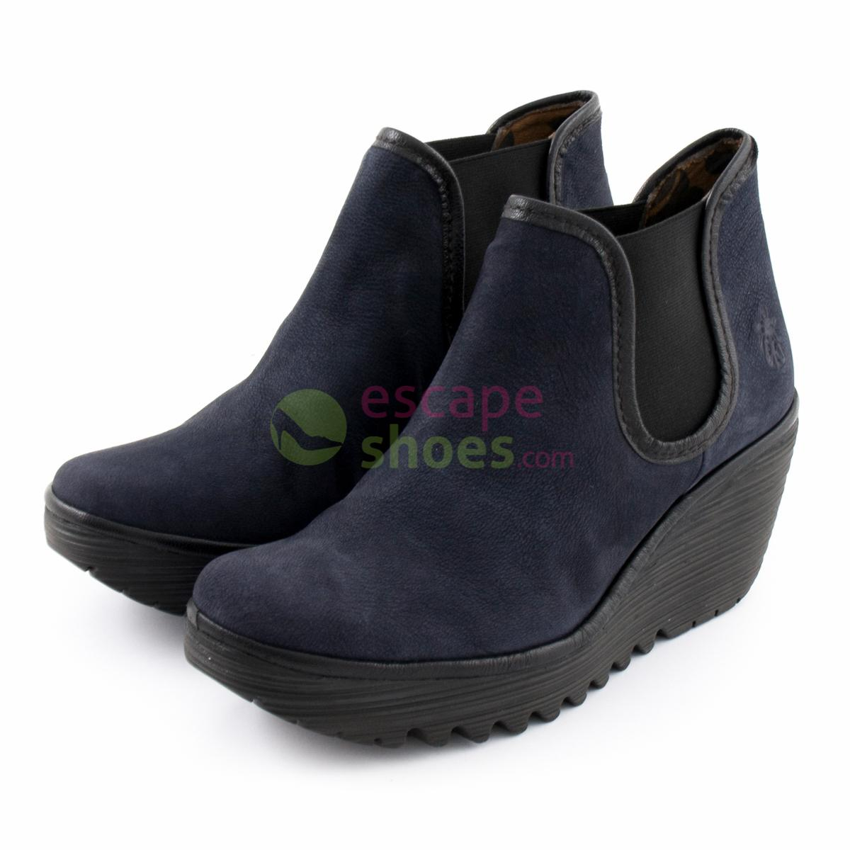 Ankle Boots FLY LONDON Yellow Yat Navy
