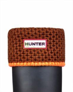 Meias HUNTER Neon Trim Boot Socks Light Ochre Neon Orange UAS3005AADONO