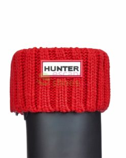 Meias HUNTER Chunky Rib Boot Socks Bright Coral UAS3002AACBCO