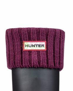 Meias HUNTER Chunky Rib Boot Socks Bright Plum UAS3002AACBPL