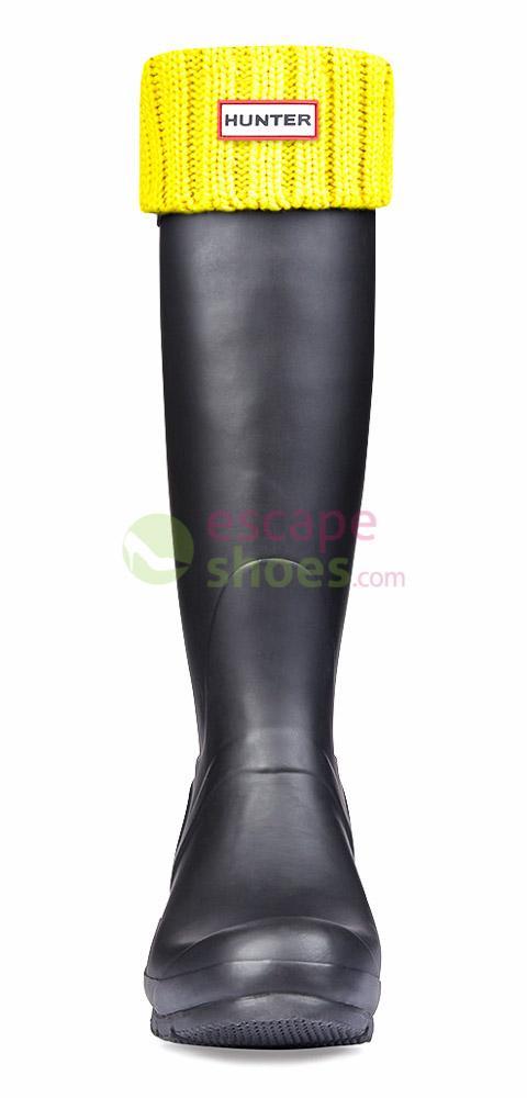 Meias HUNTER Chunky Rib Boot Socks Yellow Chartreuse UAS3002AACYCT