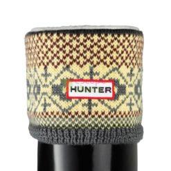 Meias HUNTER S25314 Fairisle Pattern Cuff Wellys Socks Multi Grey Chocolate