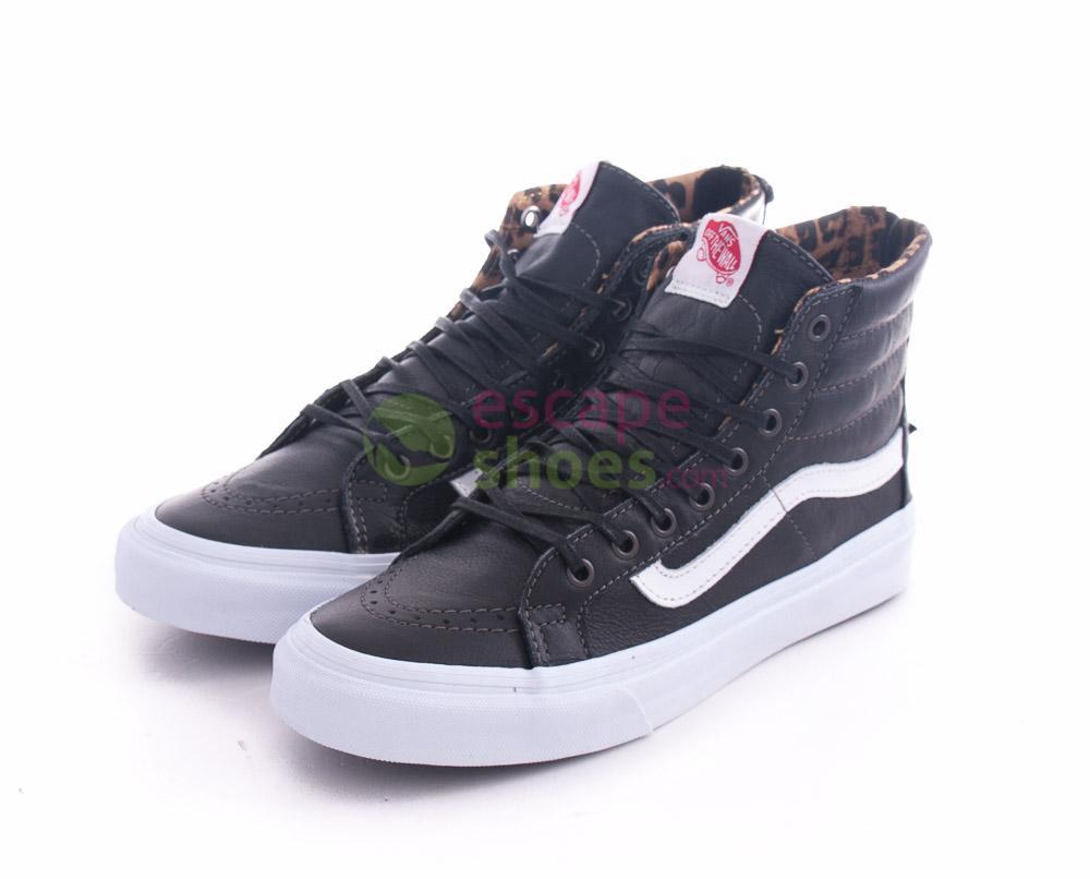 Compra aquí tus Zapatillas VANS Sk8-Hi Slim Zip Leather Black ... 136abcbdcb2