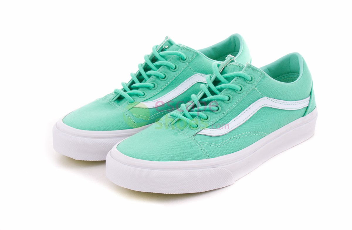 6d829d6ae65e Sneakers VANS VVOK8YK Old Skool Biscay Green White - EscapeShoes