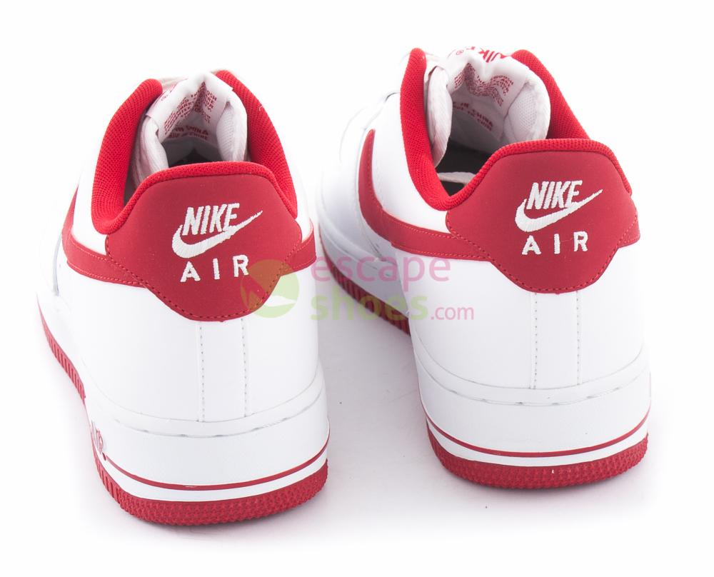 NIKE Air Force 1 White Gym Red 488298 156