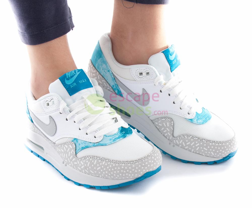Sneakers NIKE Wmns Air Max 1 Print White Grey Mist Light
