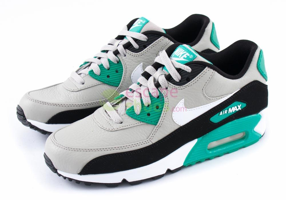 finest selection d9c88 f0767 Tenis NIKE Air Max 90 LTR Granite White Black Emerald Green 652980 003
