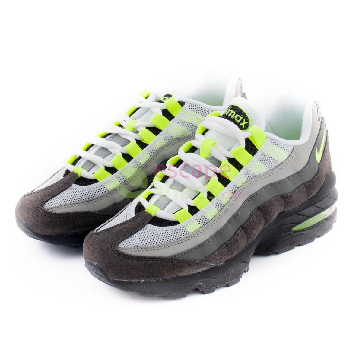 48373ca63f7 Buy your Sneakers NIKE Air Max 95 Gs Black Volt Ash Pewter 307565 ...
