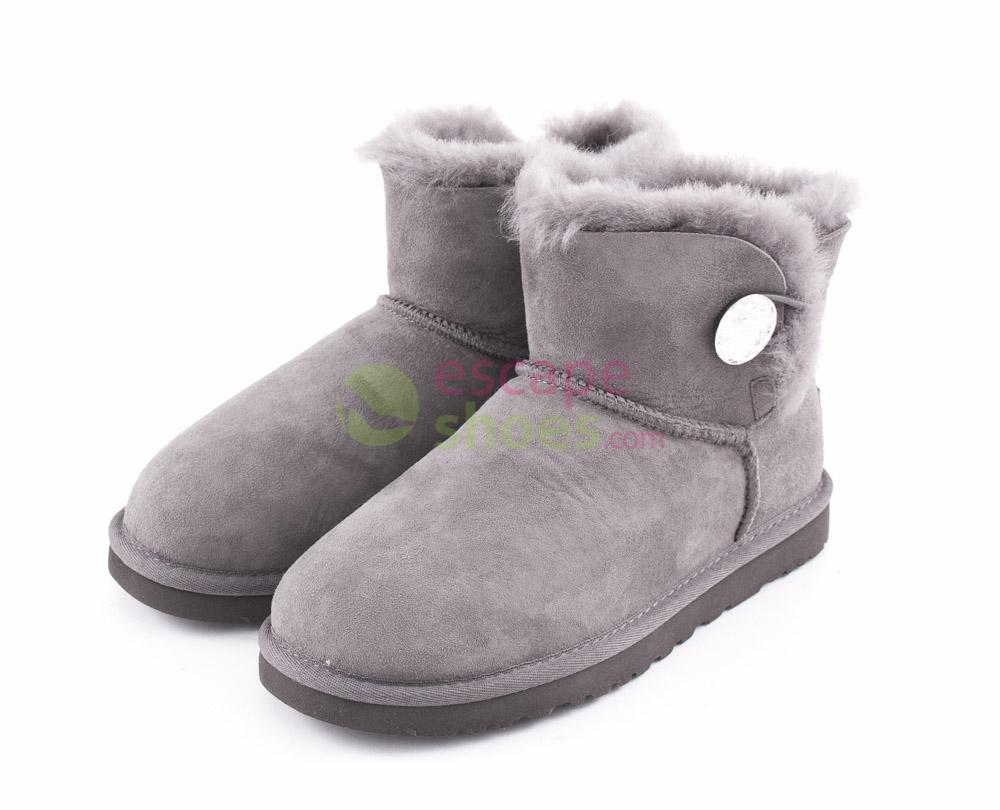 f725ea1e87f Boots UGG Mini Bailey Button Bling Grey 1003889 GRY