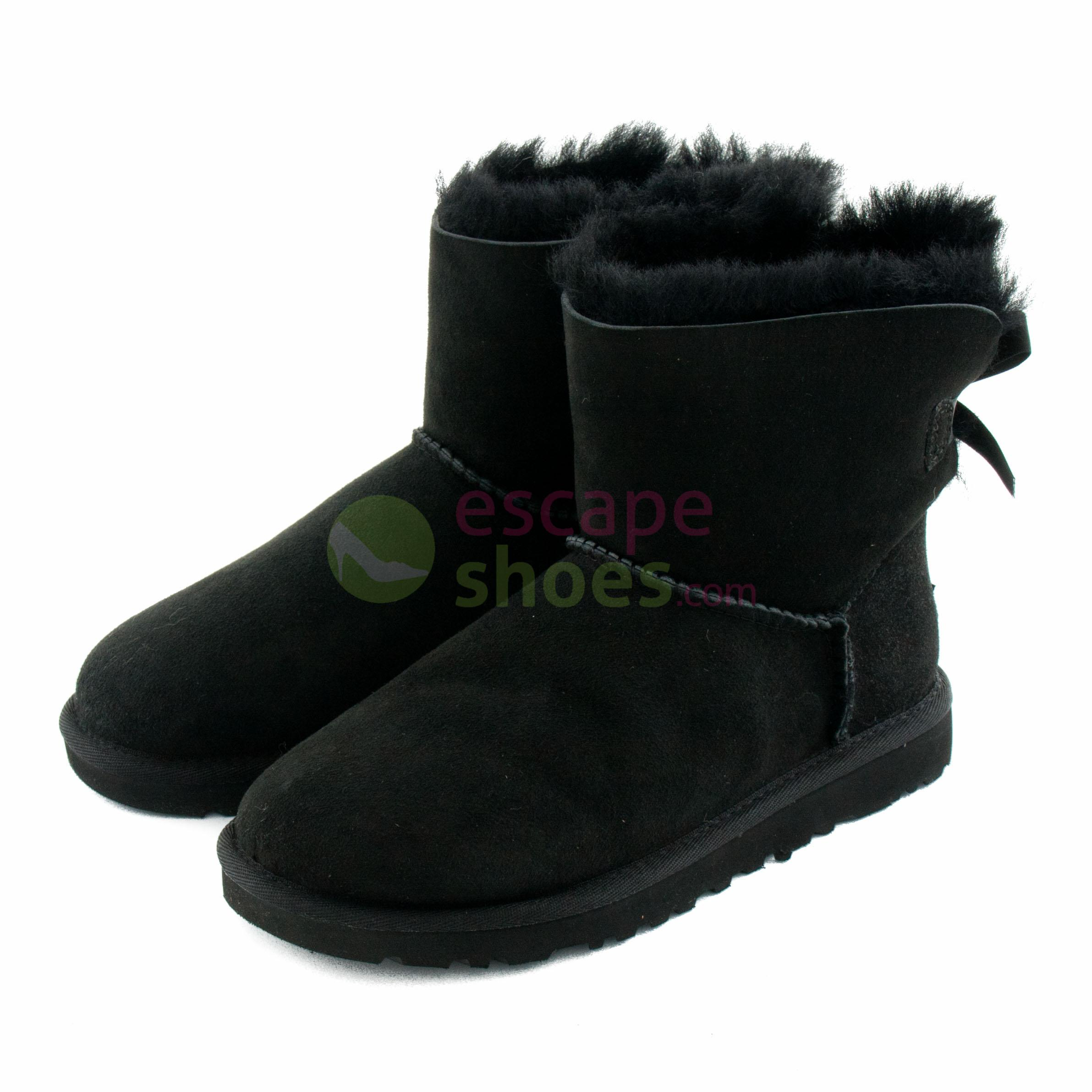 9d961ac34fe Boots UGG Australia Mini Bailey Bow Black 1005062 BLK
