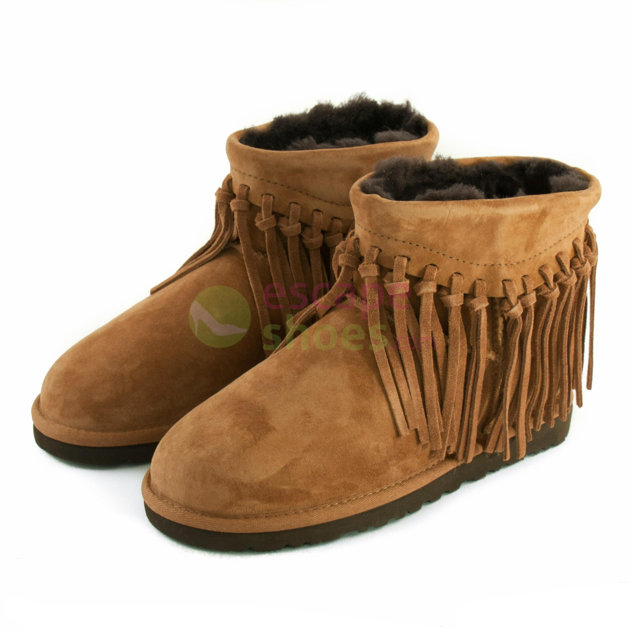 adc9a6164fc Buy your Boots UGG Australia Wynona Fringe Chestnut 1007984 CHE here ...