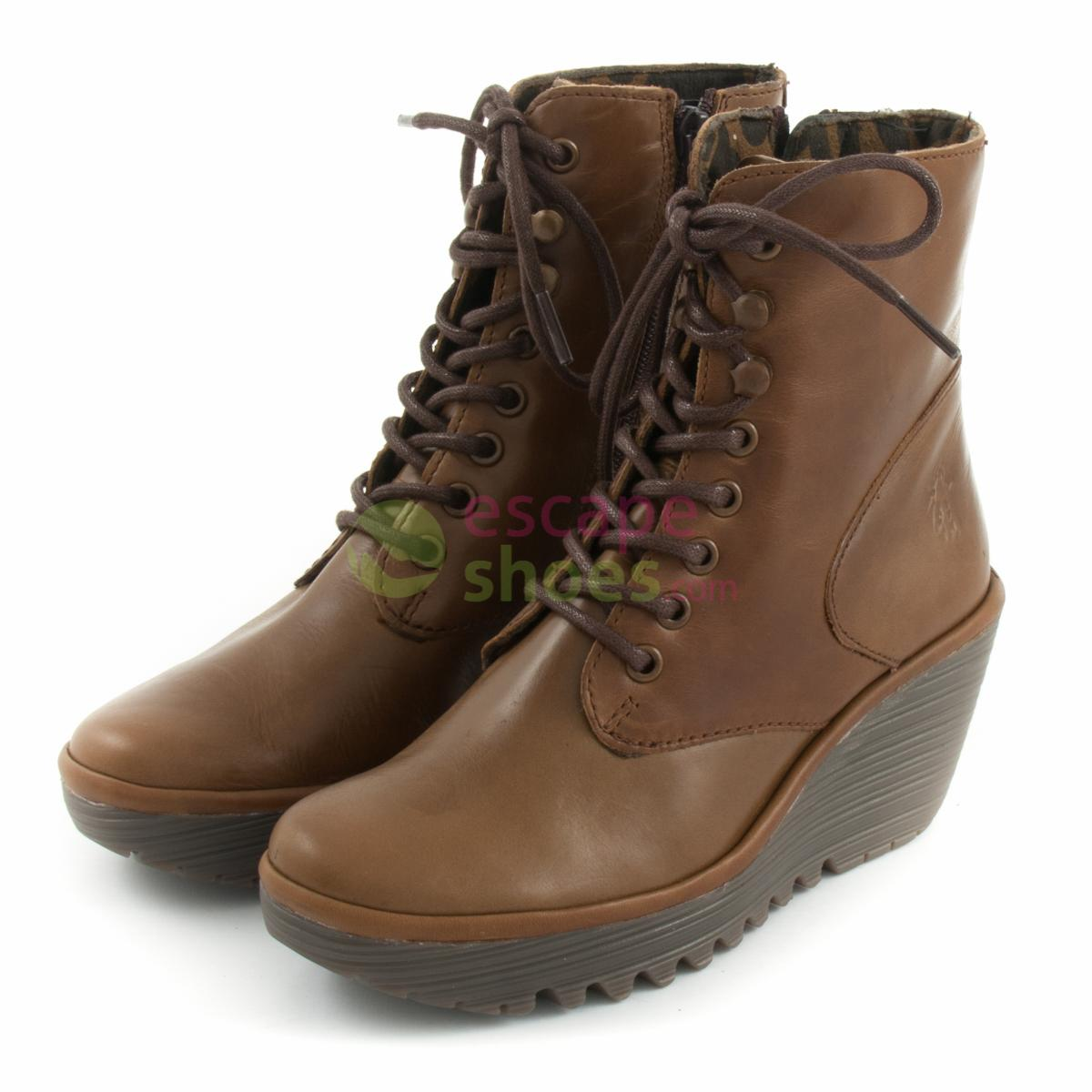 83e8e4a3c3dd4 Footwear / Ankle Boots · Botins FLY LONDON Yellow Ygot Camel P500588008