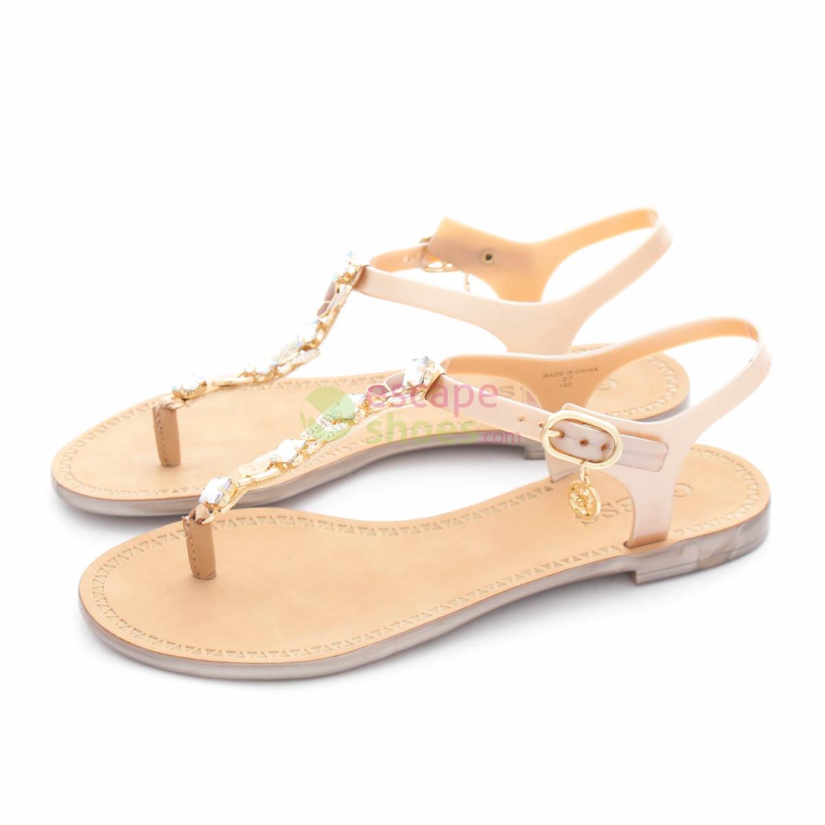 fd8ed3afce72b Buy your Sandals GUESS Rubber Adalinn Gold FLAIN2RUB21 here
