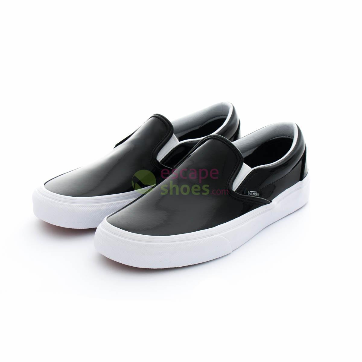 55e74398bb9 Buy your Sneakers VANS Classic Slip On Tumble Patent Black V3Z4IWN ...