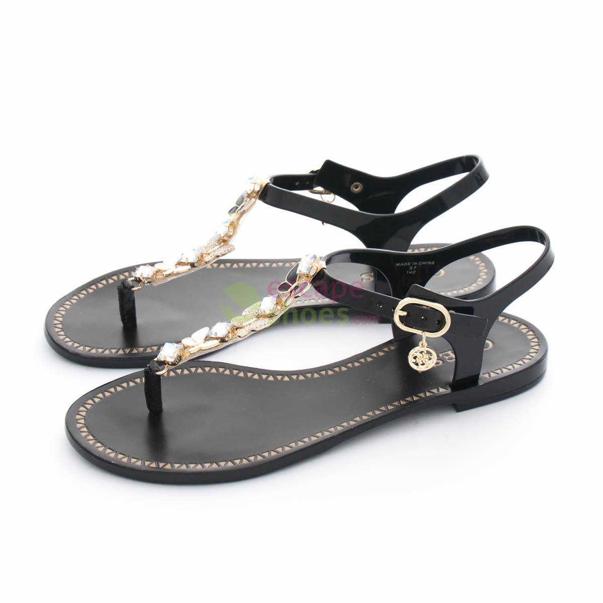 4e0e8eacc5c05 Buy your Sandals GUESS Rubber Adalinn Black FLAIN2RUB21 here ...