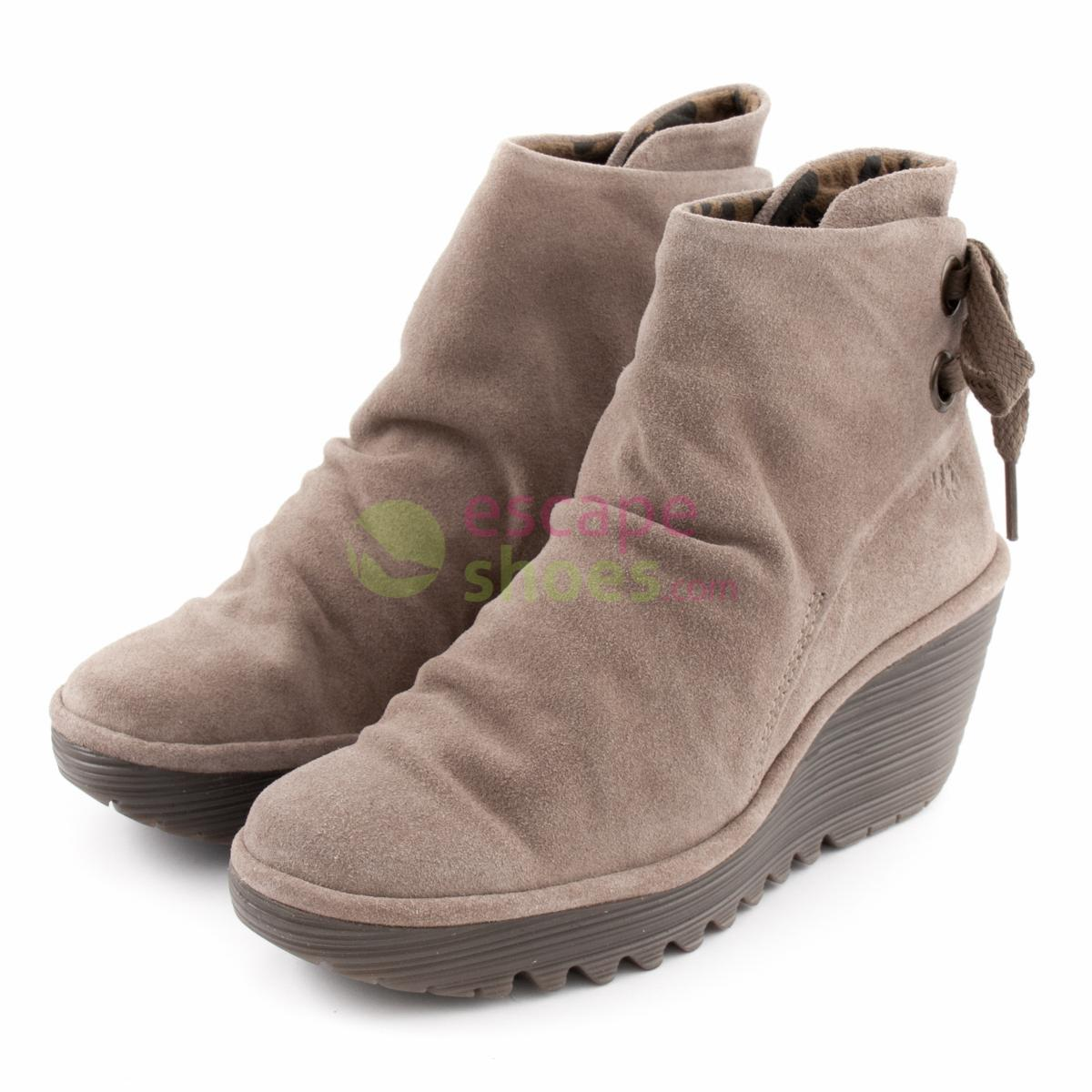 ea9df10a3f4 Buy your Ankle Boots FLY LONDON Yellow Yama Taupe P500326023 here ...