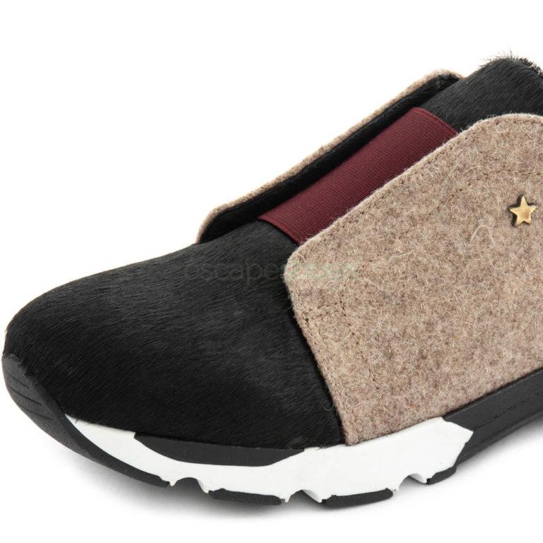 Sneakers CUBANAS Run400B Black Burgundy