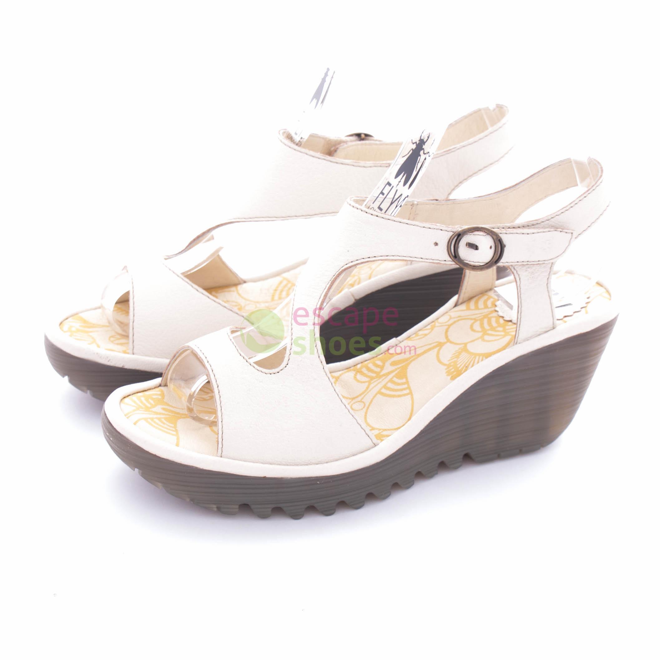 0694a9c18e939 Sandals FLY LONDON Yellow Yanca White P500569002 - EscapeShoes