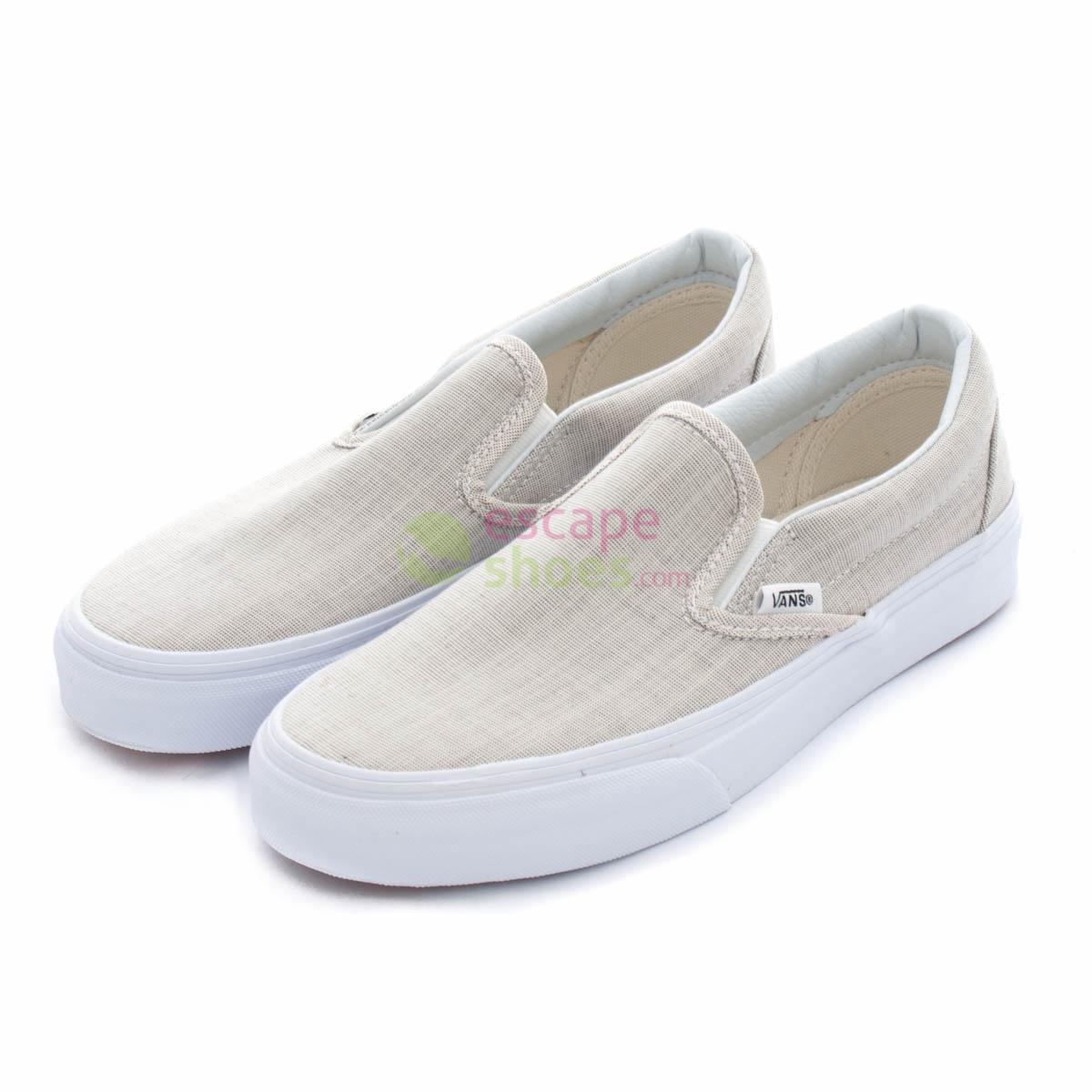 b88a7f74ac Sneakers VANS Classic Slip On Stripes Chambray Grey V3Z4IAY ...