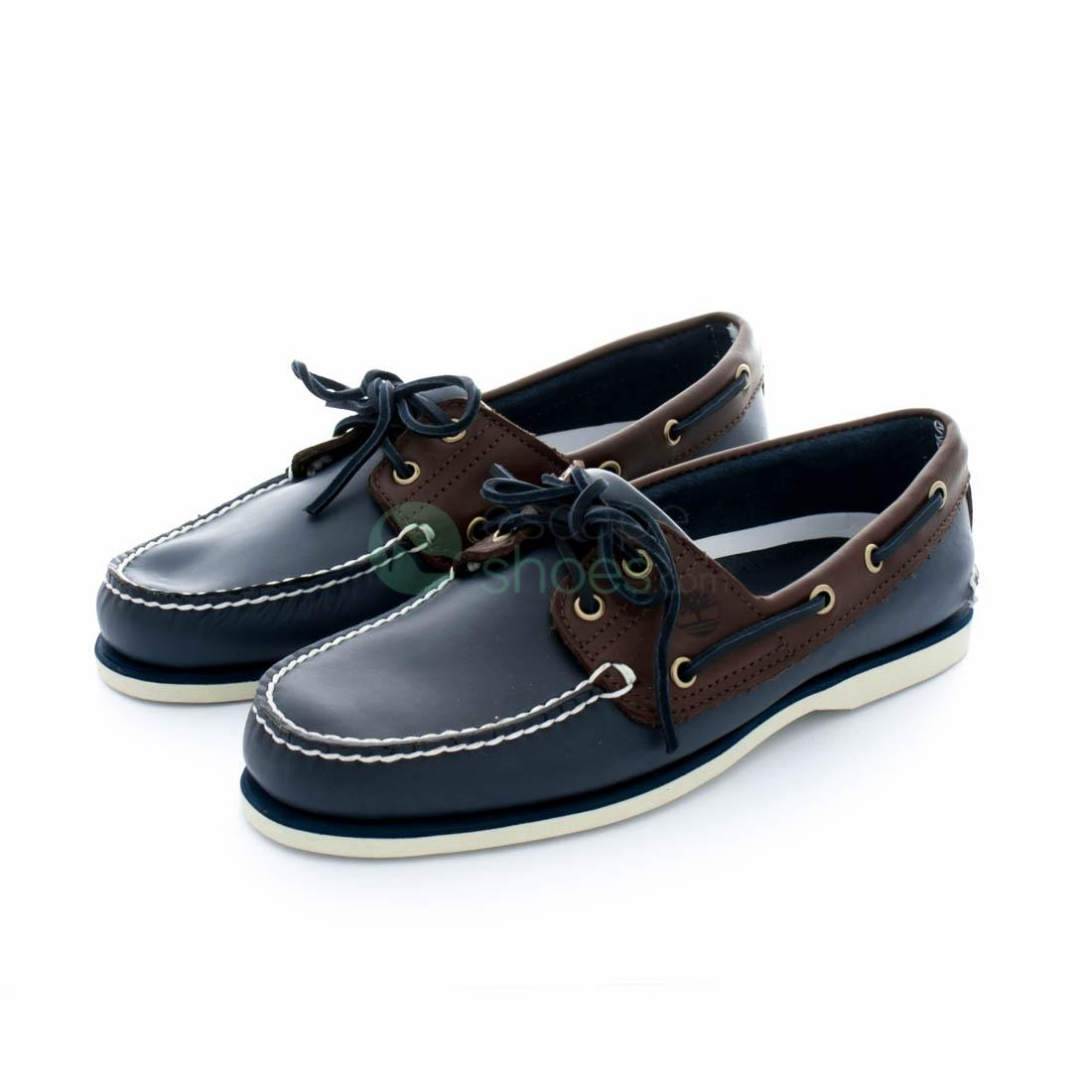 sale new products first look Boat Shoes TIMBERLAND Classic 2 Eye Blue Dark Brown A16MJ