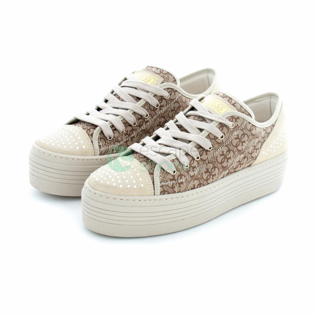 Buy your Sneakers GUESS Brunilda Beige Brown FLBRU2FAL12BEIBR here ... 2bb33be65c7