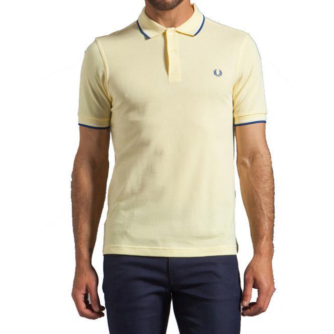 Polo FRED PERRY M3600 540 Slim Amarelo Claro