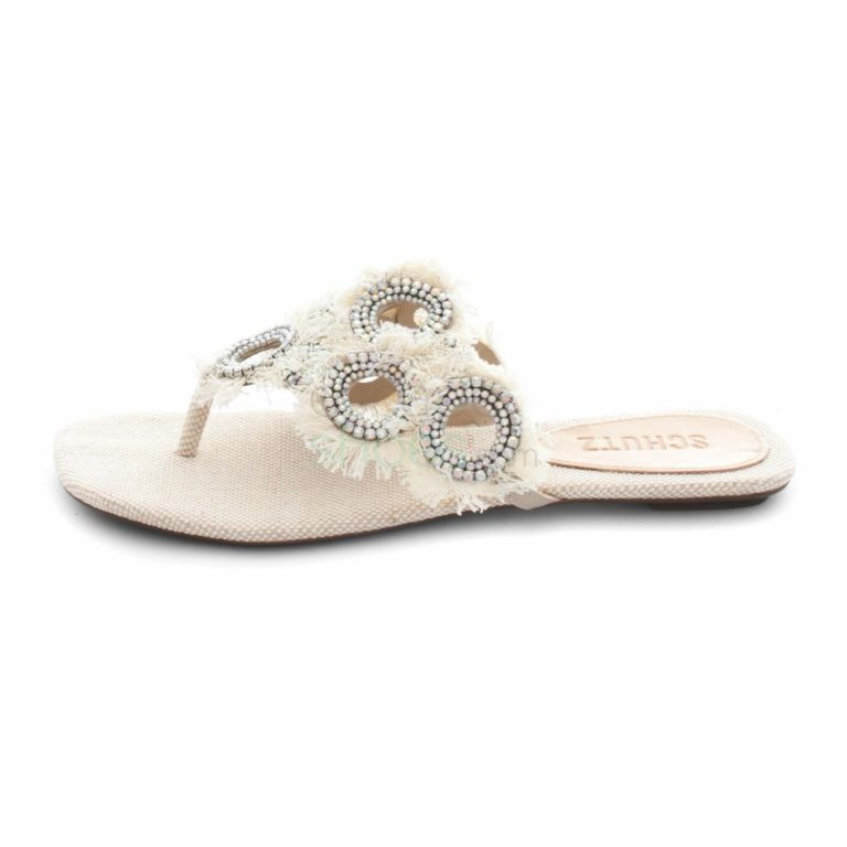 Sandalias SCHUTZ Summer Jeans Lona Natural Cristal S0-11680067