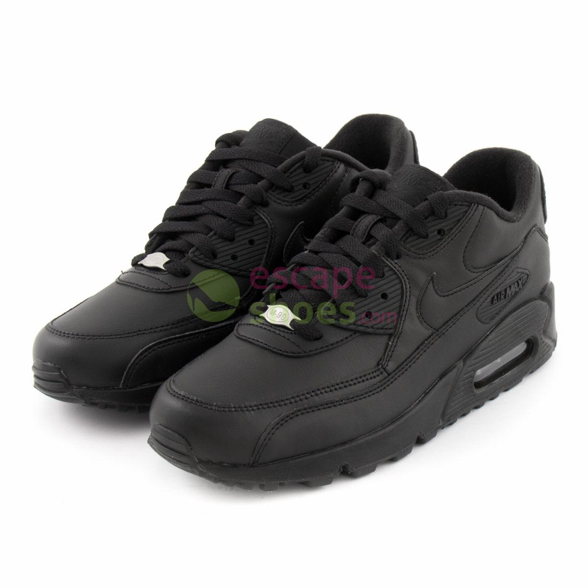 Compre aqui NIKE Air Max 90 Leather Black 302519 001  98e30614dd9e7