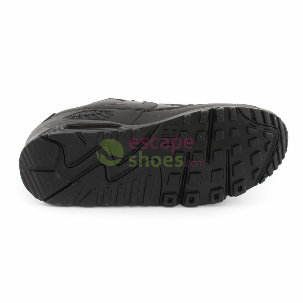 NIKE Air Max 90 Leather Black 302519 001