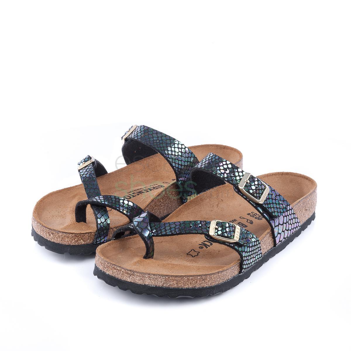 Buy your Sandals BIRKENSTOCK Mayari 1005045 Shiny Snake Black Multi ... 820bdd83186
