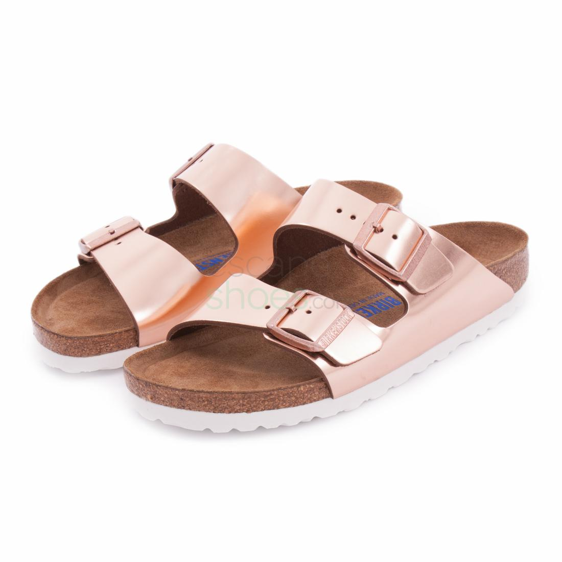 337cffde93a Buy your Sandals BIRKENSTOCK Arizona 952093 Metallic Copper here ...