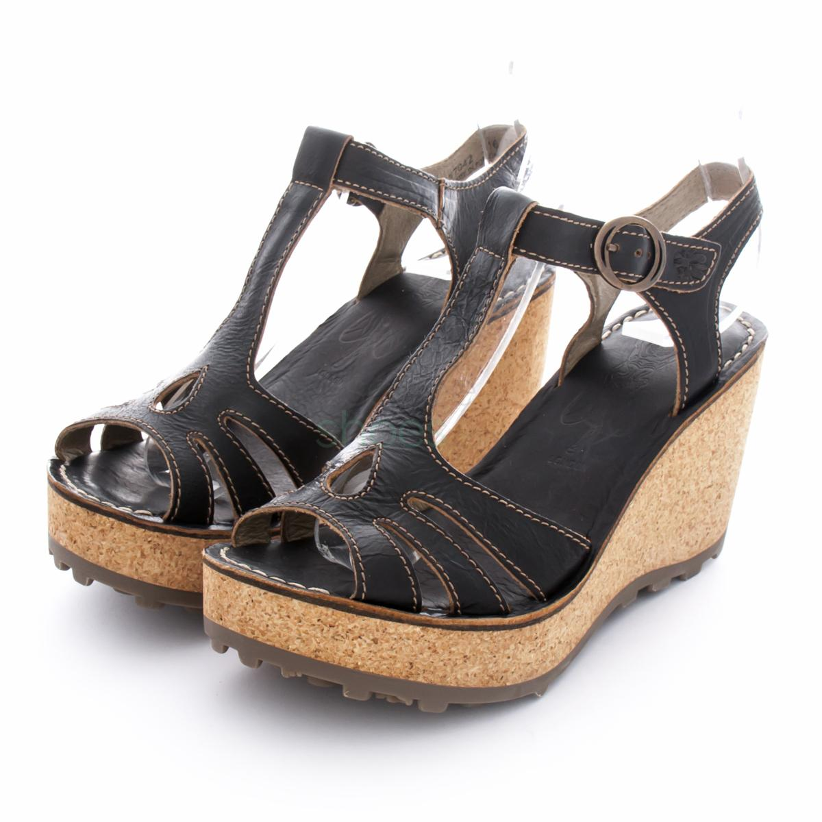 62d751682520c Buy your Sandals FLY LONDON Glam Gold Black P142167042 here | Online ...