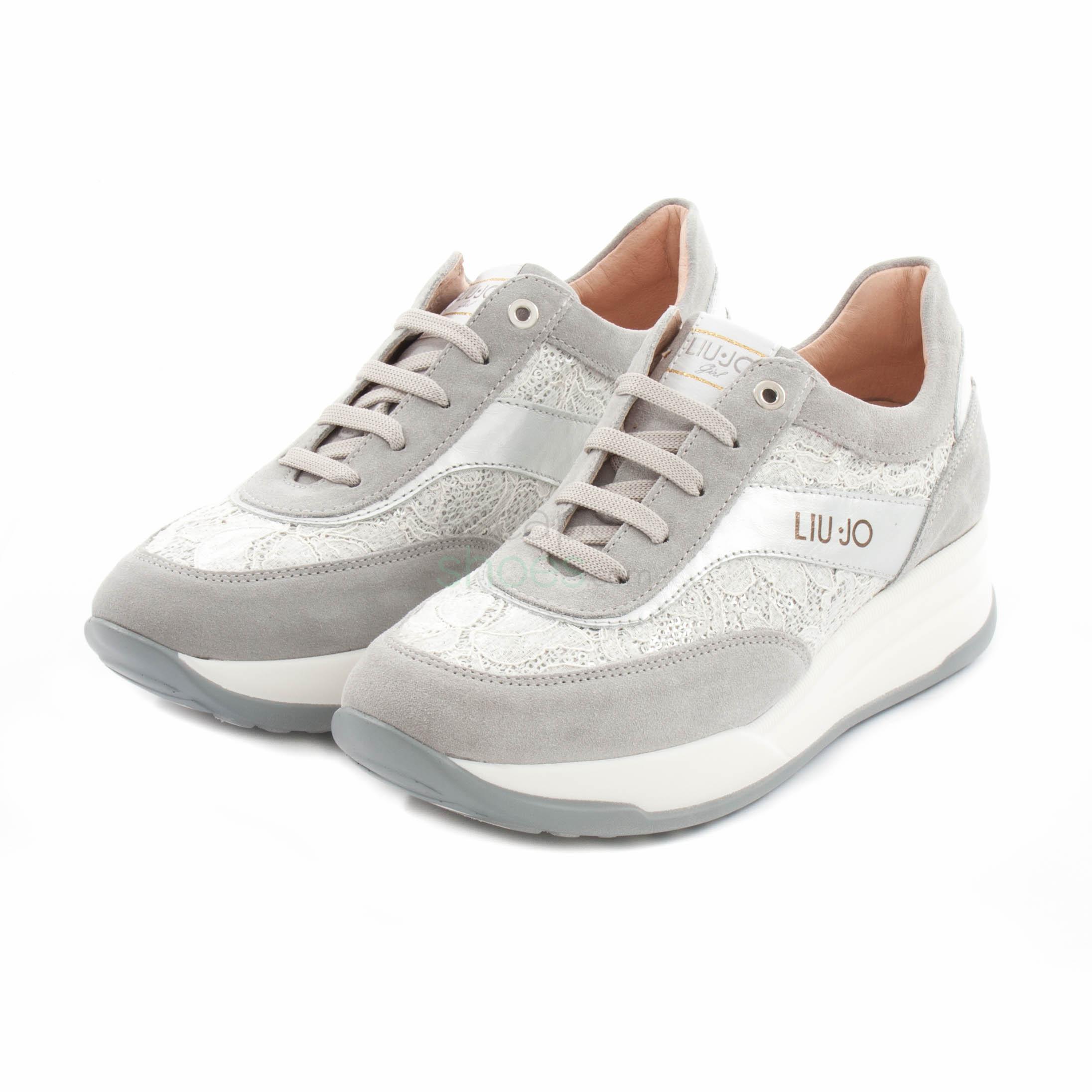 Polo Ocupar suspensión  Sneakers LIU JO Scarpa Stringa Grigio Argento L4A4-00346-0101X104
