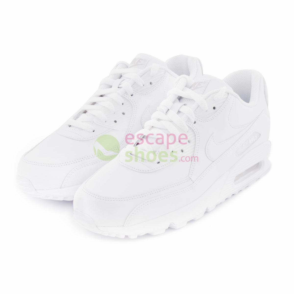 Compre aqui NIKE Air Max 90 Leather White 302519 113  c0fd3c7ee3c0d