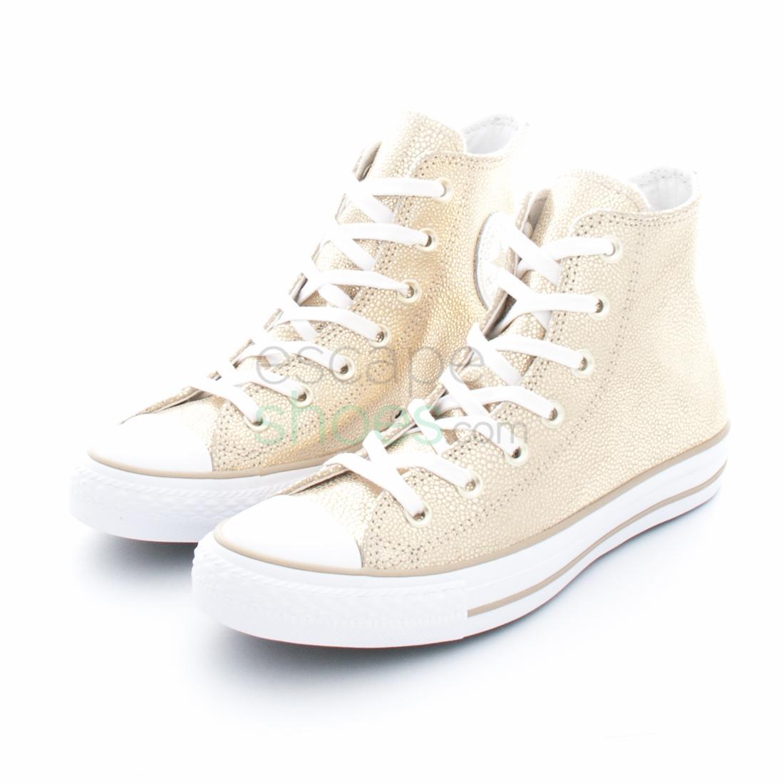 172e99ec7f1 Sneakers CONVERSE Chuck Taylor All Star 553344C Stingray Metallic Hi Light  Gold