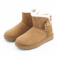 Botas UGG Australia Mini Bailey Button Poppy Chestnut 1092295