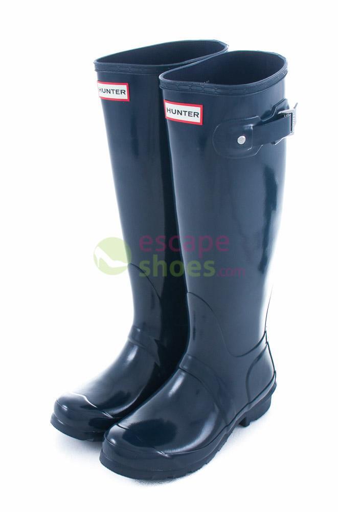 ba4688ea78f Buy your Wellies HUNTER Womens Original Tall Gloss Navy ...