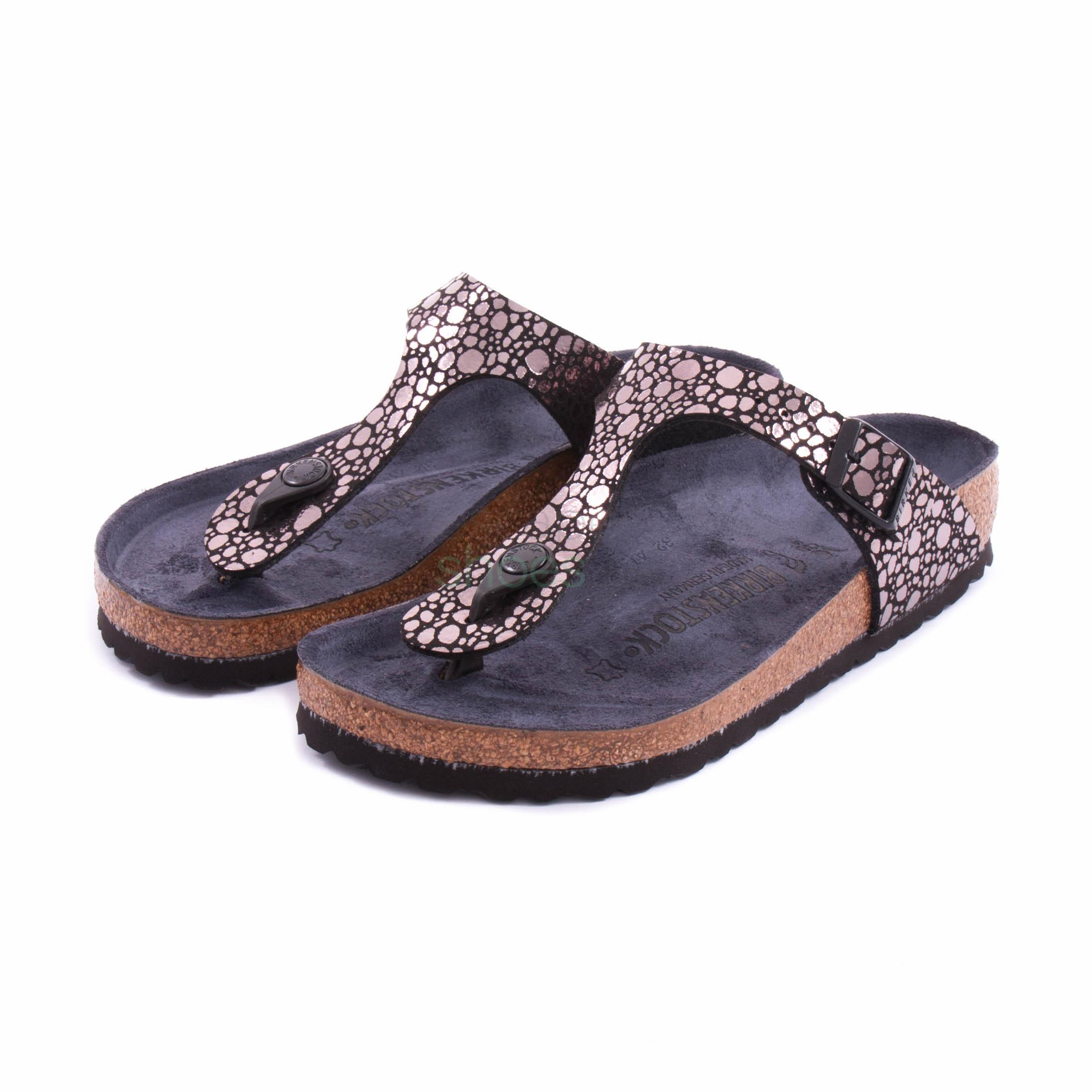 vonzó ár jó ki x sima Sandals BIRKENSTOCK 1008865 Gizeh Metallic Stones Black