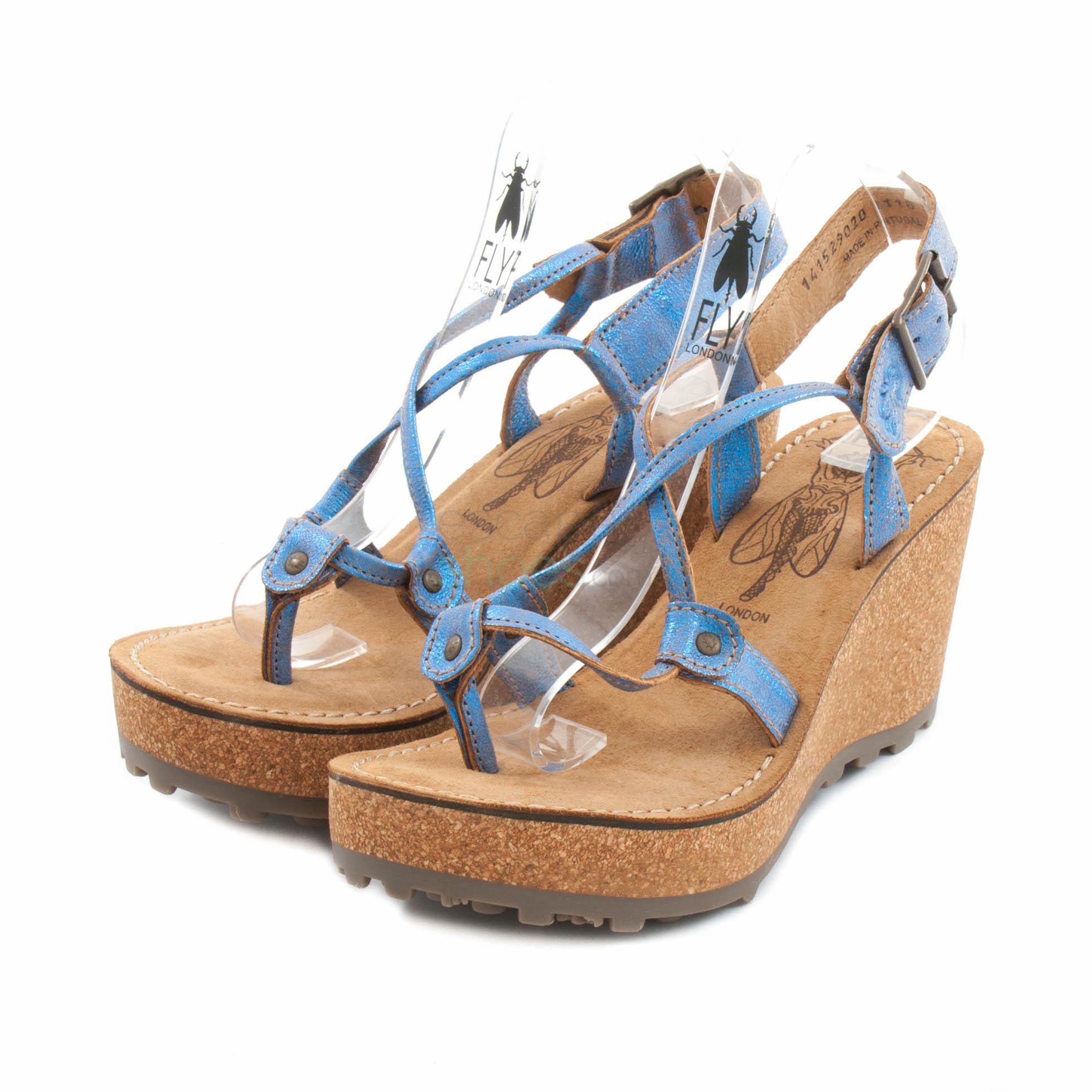 Azul Sandálias Fly Gosh London Glam 9WE2DHI