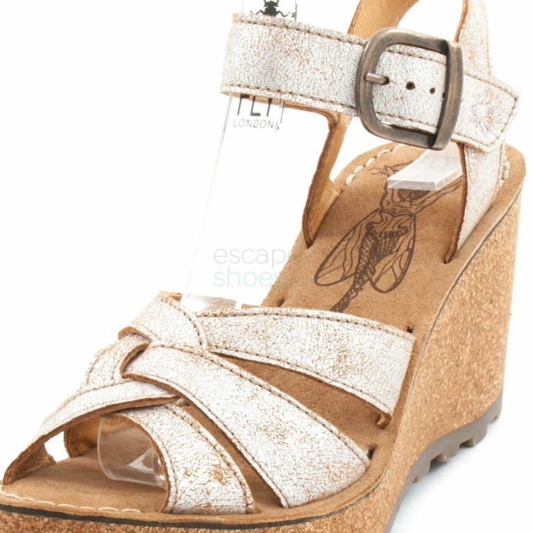 Sandalias FLY LONDON Glam Gaia Prata