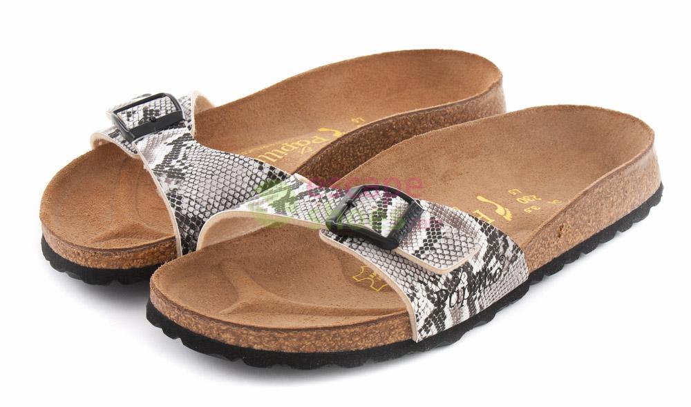 Sandals BIRKENSTOCK Papillio 133483 Madrid Snake Brown