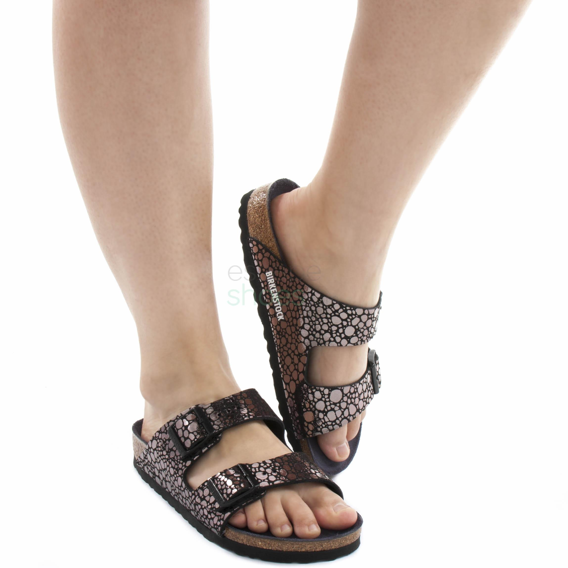 Sandals BIRKENSTOCK 1008872 Arizona Metallic Stones Black