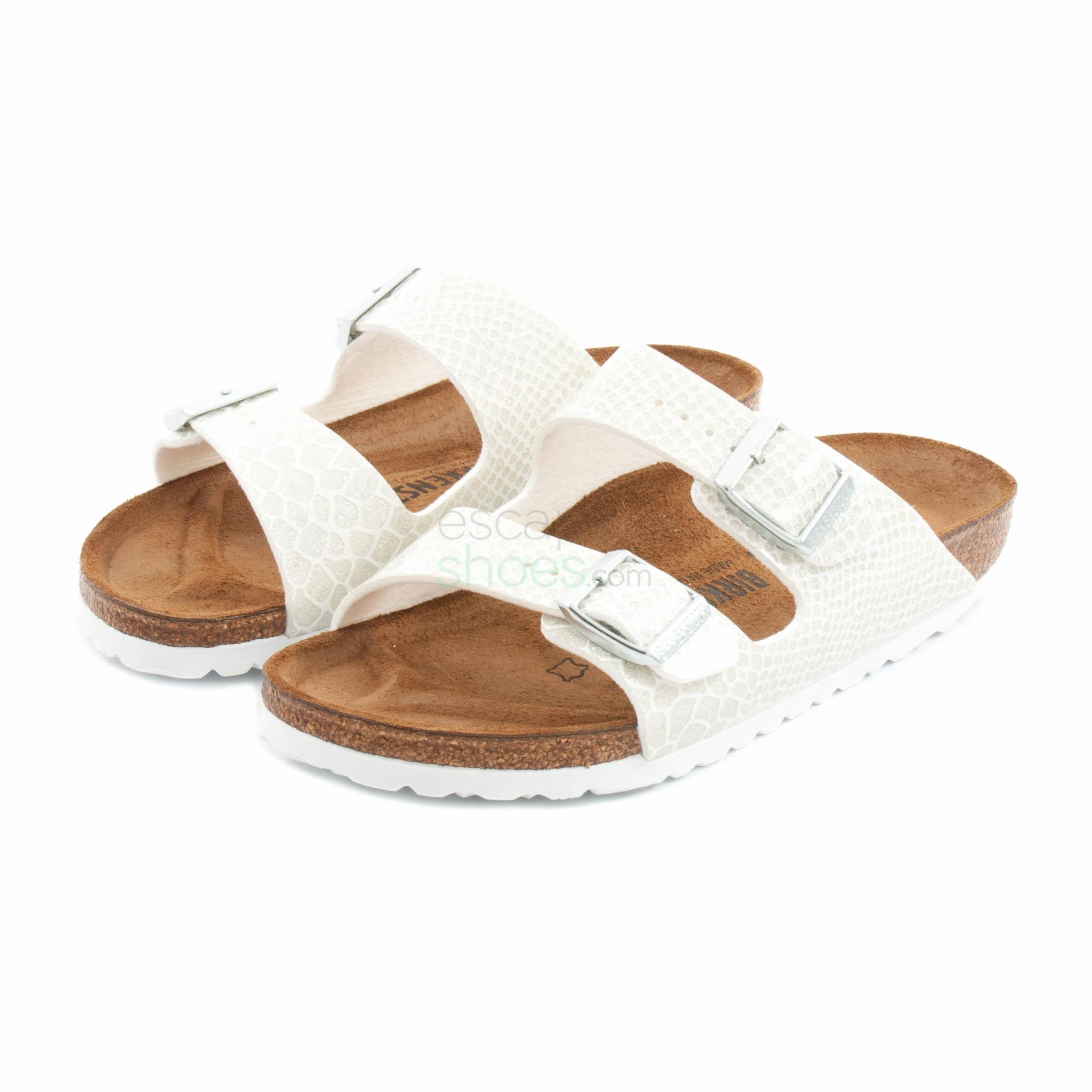 1ce4944510ae Buy your Sandals BIRKENSTOCK 1009127 Arizona Magic Snake White here ...