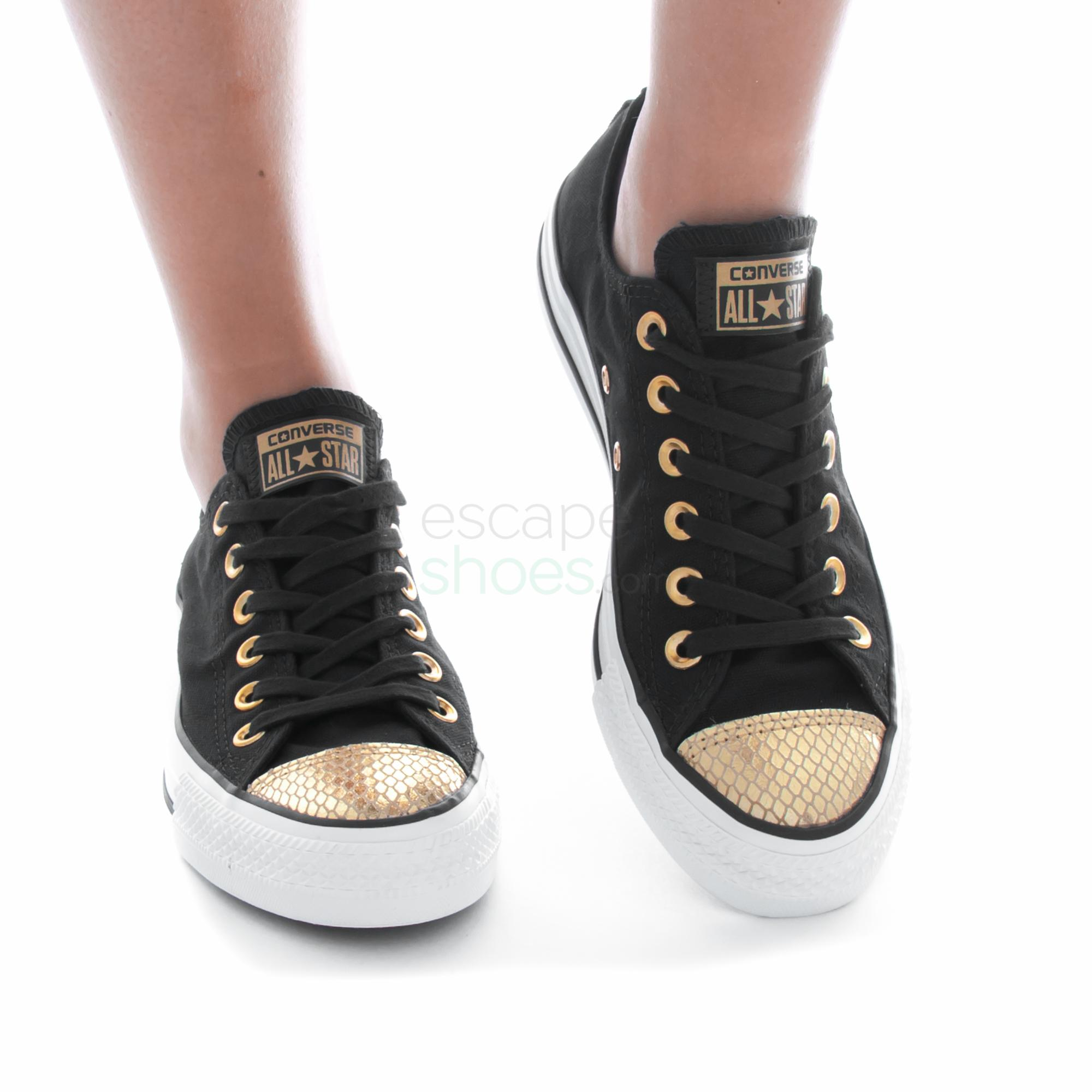 Details about CONVERSE Chuck Taylor All Star Metallic Toecap 555815C Sneakers Shoes Womens New