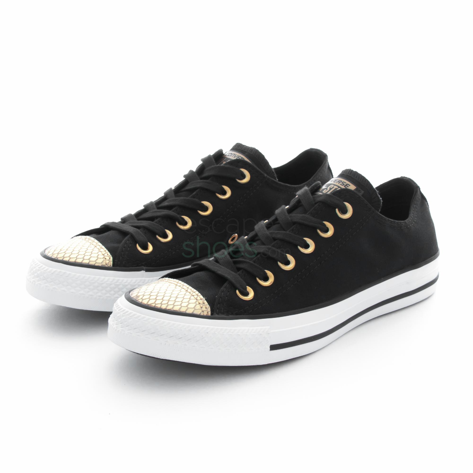 the latest 95a24 67bb5 Tenis CONVERSE Chuck Taylor All Star 555815C Black Gold White