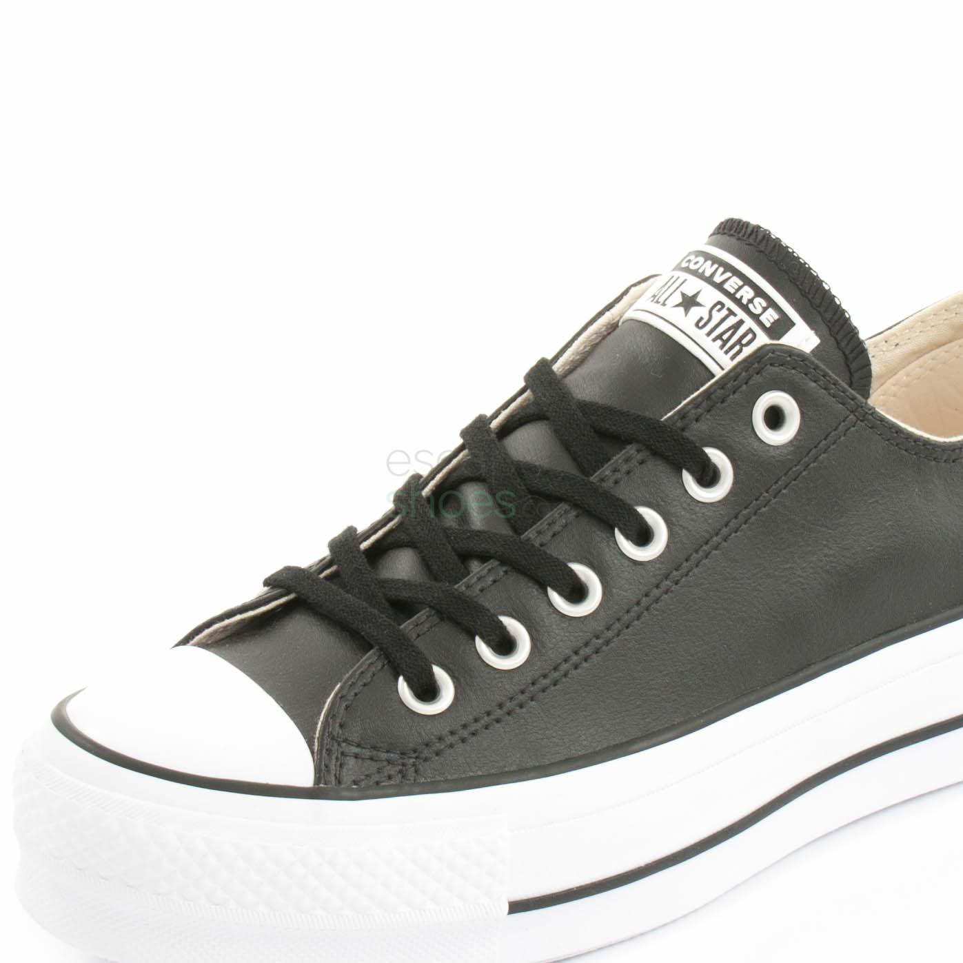 Converse Women's Chuck Taylor All Star Lift Leather in Black