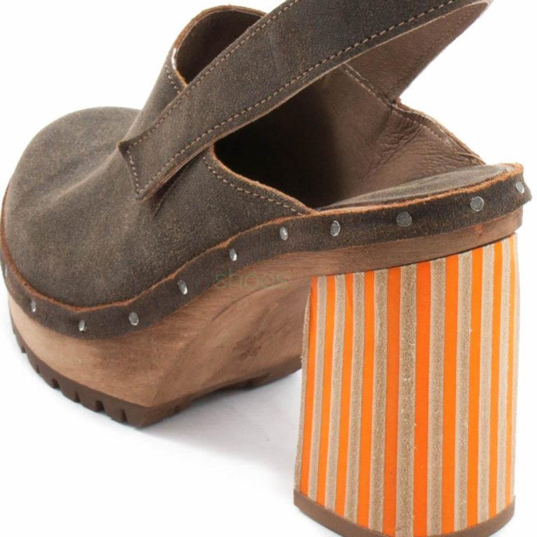 Clogs XUZ Pop Brown Russo Heel Stripes VP1018-L